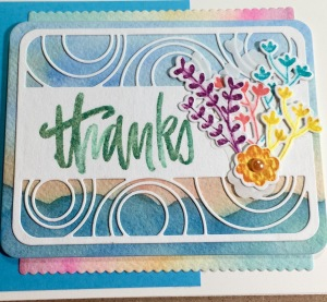 Thanks card using items from the Stamp of approval box